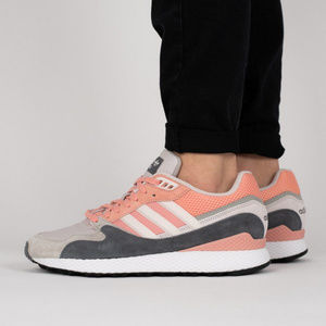 Adidas Mens Ultra Tech Sneakers Pink Grey 10.5